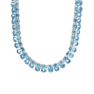 14k White Gold Necklace with 85.35ct TW Topaz