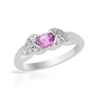 Ring with 0.51ct TW Diamond and Sapphire of 900 Platinum