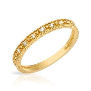 14k Yellow Gold Diamond Channel Wedding Band