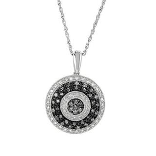 .925 Sterling Silver Necklace with 0.74ct TW Diamonds