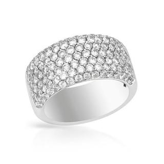 Ring with 2.00ct TW Genuine Diamonds in 18K White Gold