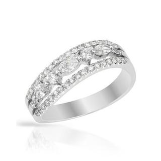 Ring with 0.6ct TW Diamonds in 18K White Gold