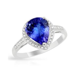 Ring with 2.31ct TW Diamonds and Tanzanite 14K White Gold
