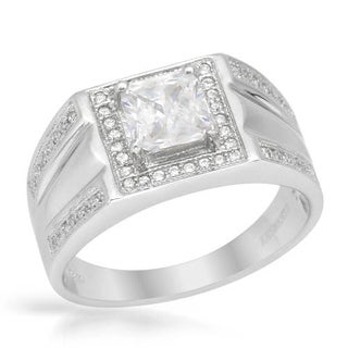 Men's Ring with 2.45ct TW Cubic Zirconia of .925 Sterling Silver