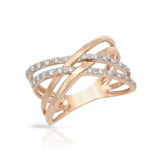 Vida Ring with Diamonds Rose Gold
