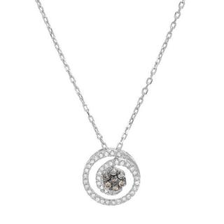 Necklace with Diamonds in .925 Sterling Silver