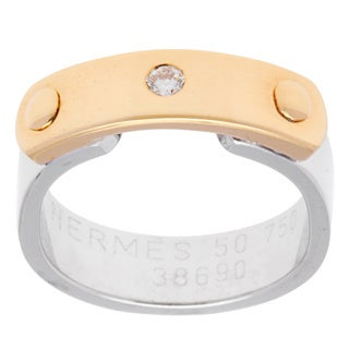 Pre-Owned Hermes Ring with 0.04 ct TW Diamond in 18k Two-tone Gold