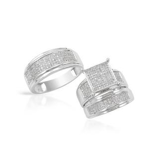 White Gold 0.6ct TDW Diamond Matching His and Hers Wedding Ring Set