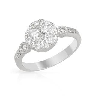 14K White Gold 1.33ct TW Spectactular Brand Diamond Ring