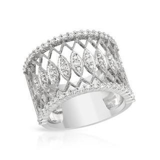 14K White Gold 8/10ct TDW Diamond Ring