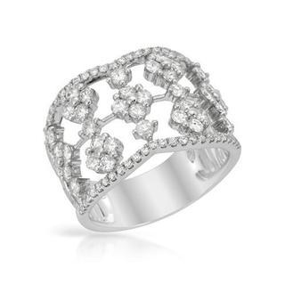 14K White Gold 1.51ct TDW Diamond Ring