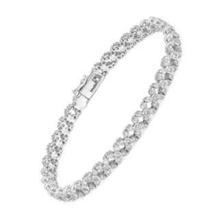14K White Gold 4ct TW Diamond Bracelet
