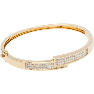 Bracelet with 2.3ct TW Princess-cut Diamonds in 14K Yellow Gold