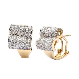 18k Yellow Gold 1.2ct TW Diamond Earrings