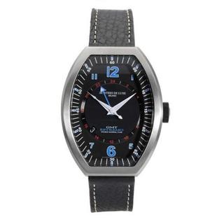 Men's Estremo Black Leather Watch