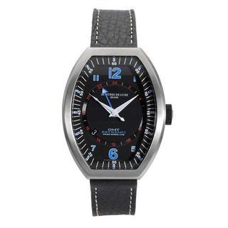 Men's Estremo Black Leather Watch