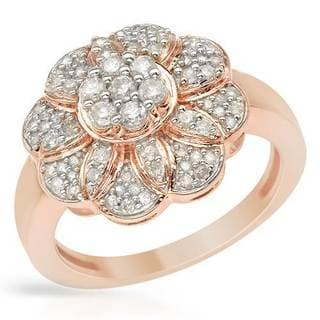 Ring with 0.6ct TW Diamonds of Rose Gold
