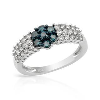 14K White Gold 0.95ct TW Diamond Ring