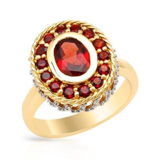 Ring with 2.2ct TW Garnets Two-tone Gold