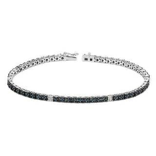 Vida Tennis Bracelet with 0.85ct TW Diamonds 14K White Gold