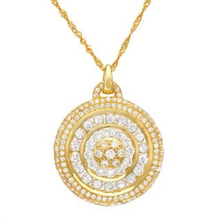 Necklace with 5.35ct TW Cubic Zirconia in 18K/925 Gold-plated Silver