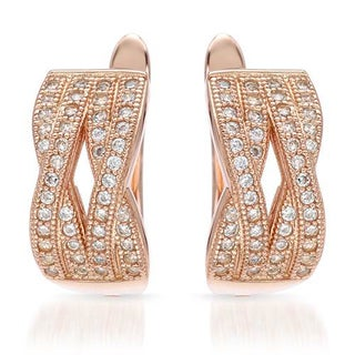 Earrings with Cubic Zirconia 14K/925 Gold-plated Silver