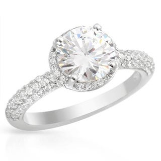 Ring with 5.2ct TW Cubic Zirconia in .925 Sterling Silver