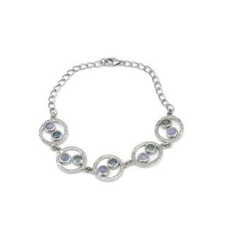 Bracelet with 3 1/2ct TW Sapphires and Tanzanites in 925 Sterling Silver