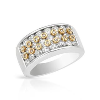Ring with 2.15ct TW Diamonds in 14K Two-tone Gold