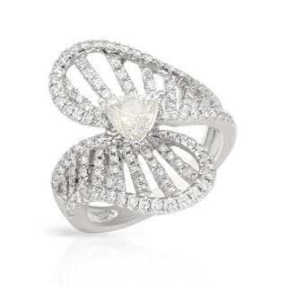 Solitaire Plus Ring with 1.50ct TW Genuine Diamonds in 14K White Gold