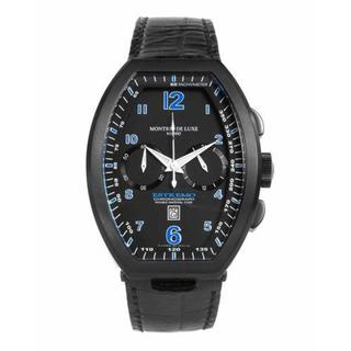 Men's TYPE 12 NERO Black Aluminium Leather Chronograph Watch