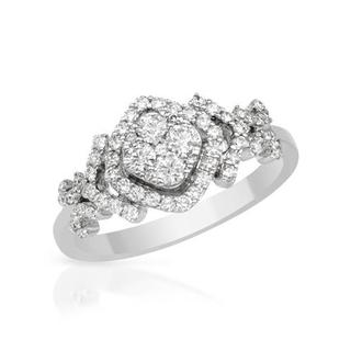 14K White Gold 0.56ct TW Genuine Diamond Ring