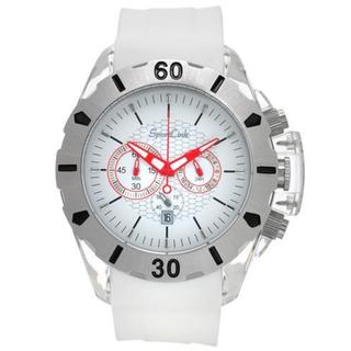 Men's All-Star White Rubber Chronograph Watch