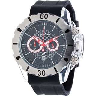 Men's All-Star Black Rubber Chronograph Watch