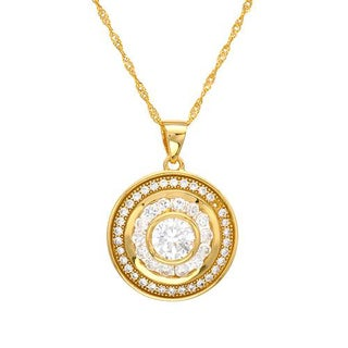 Necklace with 3.30ct TW Cubic Zirconia in 18K/925 Gold-plated Silver