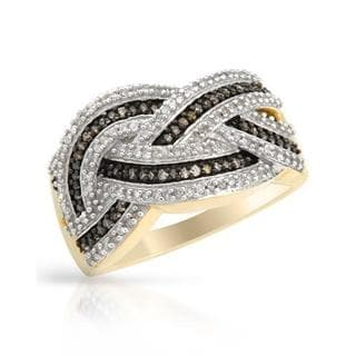 Ring with 0.6ct TW Diamonds in Two-tone Gold