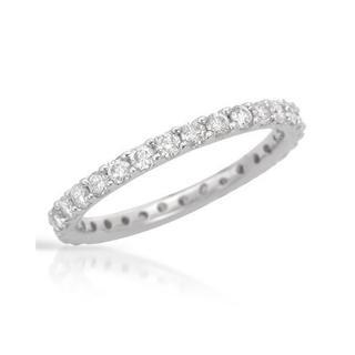 14k White Gold 1ct TDW Diamond Eternity Wedding Band