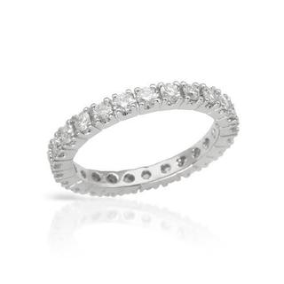 Eternity Ring with 1.16ct TW Genuine Diamonds in 14K White Gold