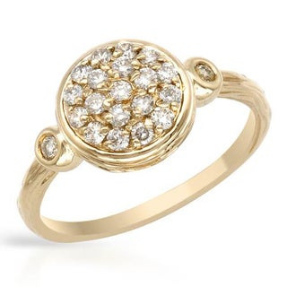 Ring with 0 1/2ct TW Diamonds Crafted in 14K Yellow Gold
