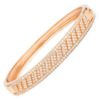 Yagi Bracelet with Cubic Zirconia 14K/925 Gold-plated Silver