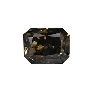 Loose with 1.05ct TW Natural Fancy Dark Brown Diamond 6.13 x 4.79 x 4.05 mm - CERTIFIED by European