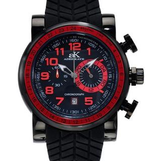Men's AK7233-MIPB Black Rubber Chronograph Watch