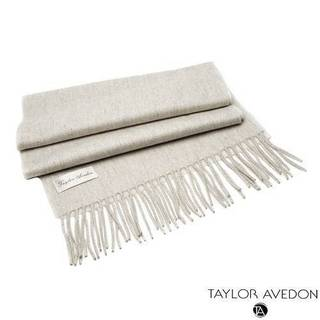 Taylor Avedon Women's Beige Cashmere Scarf
