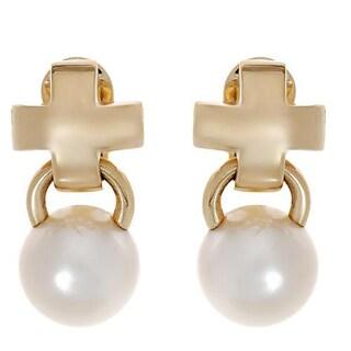 Mikimoto! Earrings 115mmSouth Sea Pearls 18K Gold