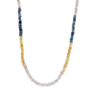 Necklace with 51.70ct TW Genuine Sapphires of 18K Yellow Gold