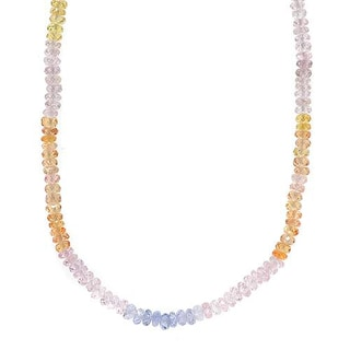 Necklace with 65.00ct TW Genuine Sapphires in 18K Yellow Gold