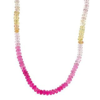 Necklace with 83.00ct TW Genuine Sapphires in 18K Yellow Gold