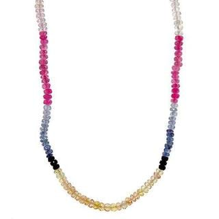 Necklace with 63.15ct TW Genuine Sapphires in 18K Yellow Gold
