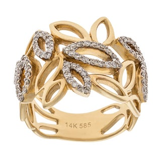 Ring with 0.57ct TW Diamonds in 14K Yellow Gold