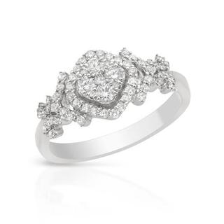 Ring with 0.59ct TW Diamonds in 14K White Gold